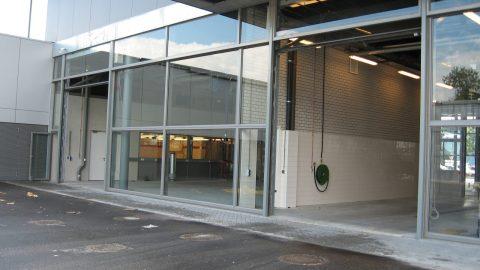 Glazen sectionaaldeur - Overheaddeur van glas - snelle deur - snelloopdeur voor de brandweer