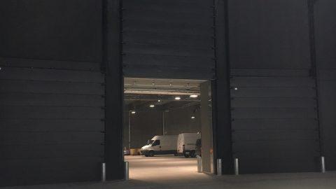 Geluidsisolerende verticale schuifdeur - Kopenhagen Royal Arena